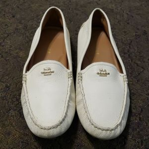 Coach Amber pebbled leather loafer